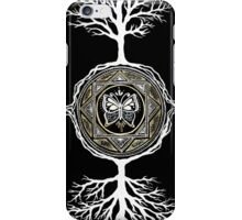 Silver and Gold Butterfly Tree Mandala iPhone Case/Skin