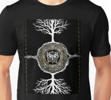 Silver and Gold Butterfly Tree Mandala Unisex T-Shirt