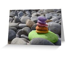 Colorful Rocks Greeting Card