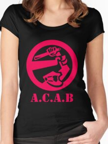 A.C.A.B All Cops Are Bastards Women's Fitted Scoop T-Shirt