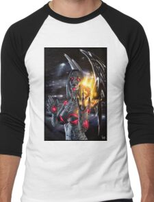 Robot Angel Painting 019 Men's Baseball ¾ T-Shirt