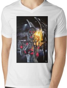 Robot Angel Painting 019 Mens V-Neck T-Shirt