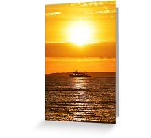 Miss Shahan II Passing Under The Morning Sun | Orient Point, New York Greeting Card