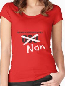 Nan to the Rescue! Women's Fitted Scoop T-Shirt