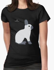 Blue Sable Point Rabbit Womens Fitted T-Shirt
