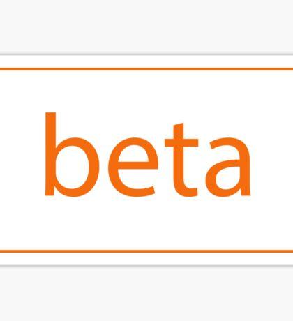 Beta Tag Sticker