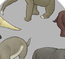 Ground sloth varieties Sticker