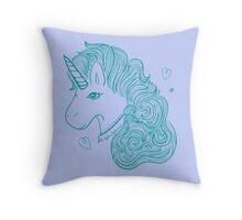 Aqua Unicorn Throw Pillow