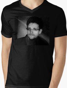 Edward Snowden Mens V-Neck T-Shirt