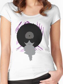 Funky Vinyl Records - Music Art Women's Fitted Scoop T-Shirt