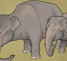 Dwarf elephants, Palaeoloxodon falconeri Sticker