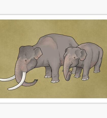 Dwarf elephants, Palaeoloxodon falconeri Sticker