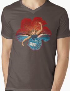 Flower Hawaii Pele Mens V-Neck T-Shirt