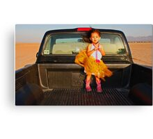 M In A Truck Canvas Print