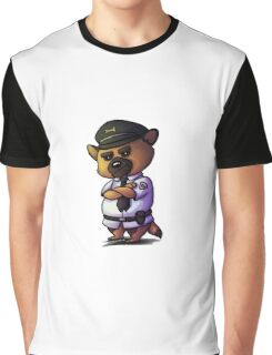 Grumpy German Shepherd Cop Graphic T-Shirt