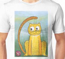 Yellow cat and ball Unisex T-Shirt