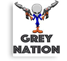Grey Nation Canvas Print