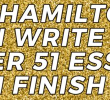 If Hamilton can Sticker