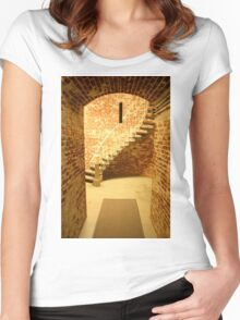 Spiral Staircase Women's Fitted Scoop T-Shirt