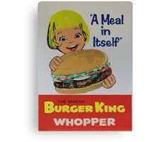 the king of the burger Canvas Print
