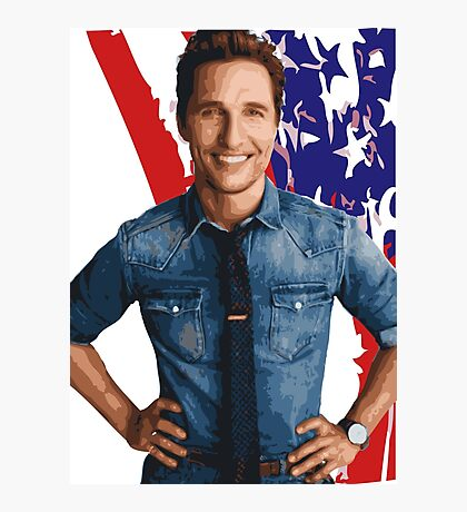 All-American Matthew McConaughey Photographic Print