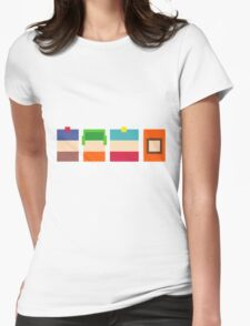 South Park Pixels Womens Fitted T-Shirt