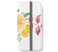 Watercolor flowers floral iPhone Wallet/Case/Skin