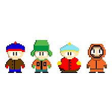 South Park 8-Bit Photographic Print