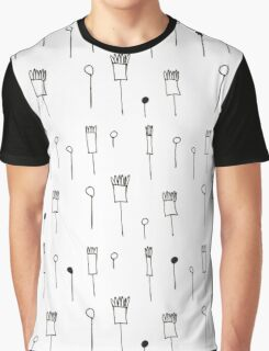 Doodle flowers white Graphic T-Shirt