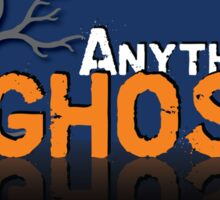 Anything Ghost Tree Logo - Blue Sticker
