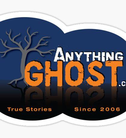 Anything Ghost Tree Logo - Blue Sticker