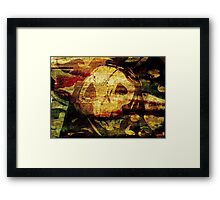 Death - Artwork with Stained Canvas Texture Framed Print