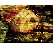 Death - Artwork with Stained Canvas Texture Photographic Print