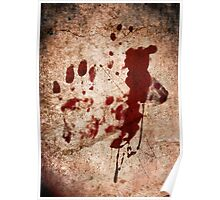 """Dexter"" - Hand with Blood Poster"