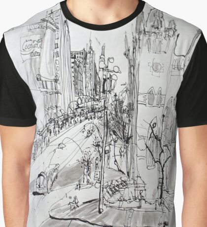 St Pauls Cathedral, Melbourne Graphic T-Shirt