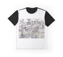 Princess Bridge Study, Melbourne Graphic T-Shirt
