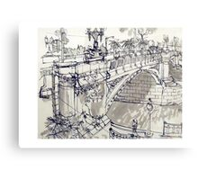 Princess Bridge Study, Melbourne Canvas Print