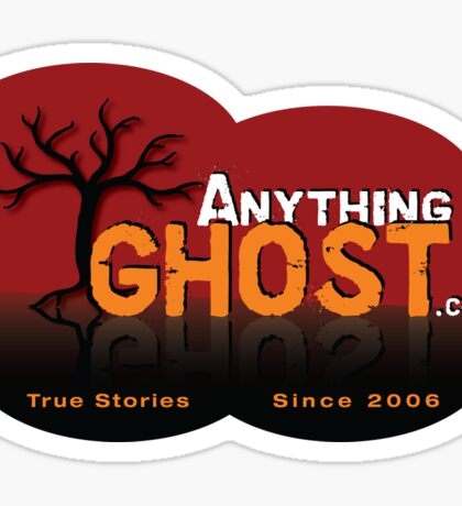 Anything Ghost Tree Logo - Red Sticker