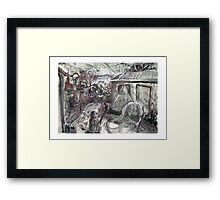 Sunrise in Melbourne with Steinberg Framed Print