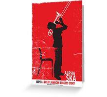 Alpha Ska Greeting Card