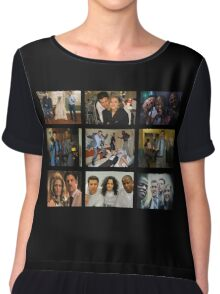 """Psych """"in Character"""" Collage Chiffon Top"""