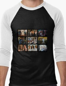"Psych ""in Character"" Collage Men's Baseball ¾ T-Shirt"
