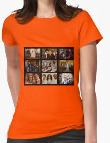 """Psych """"in Character"""" Collage Womens Fitted T-Shirt"""