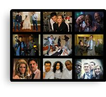 "Psych ""in Character"" Collage Canvas Print"
