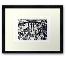 Under the Bridge, Mordialloc Creek Framed Print