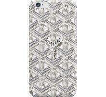 Goyard White Logo iPhone Case/Skin iPhone Case/Skin
