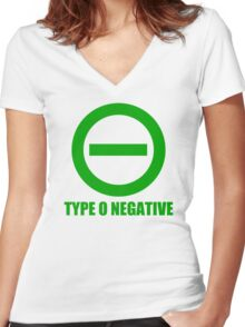 TYPE O NEGATIVE Women's Fitted V-Neck T-Shirt