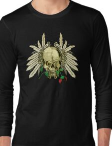 Cool Skull with Wings and Dead Rose T-Shirt