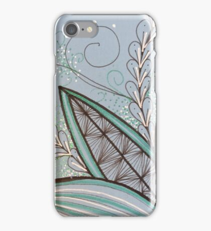 Leaves out of a blue iPhone Case/Skin