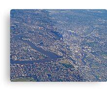 Aerial, Brisbane , Queensland, Australia Metal Print
